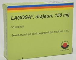 ЛАГОЗА таблетки 150 мг. * 50